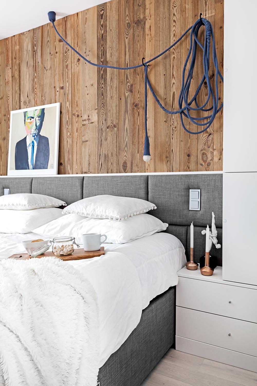 projekt wnętrza sypialni w skandynawskim stylu