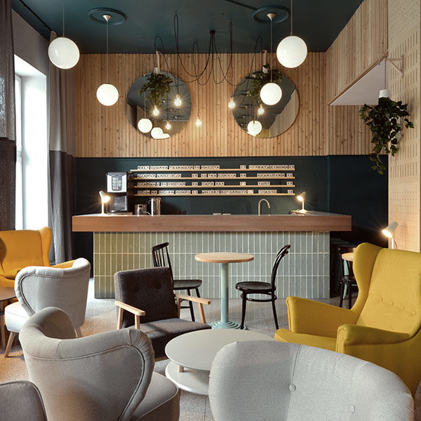 cafe rampa projekt kawiarni